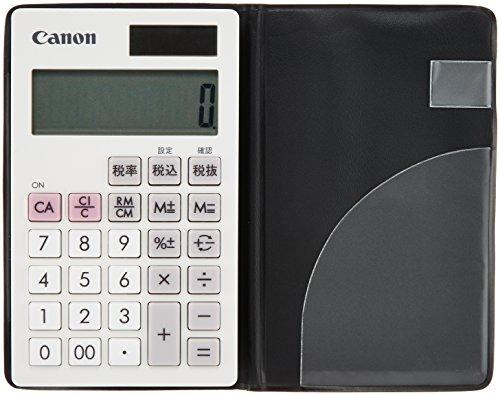 CANON 10桁手帳電卓 LS-10T ホワイト