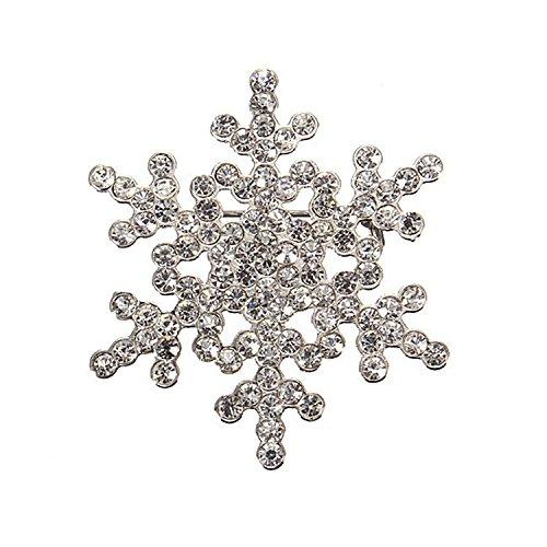 [해외]YideaHome 반짝 크리스마스 컬러 눈사람 브로치/YideaHome Glittering Christmas Color Snowman Brooch