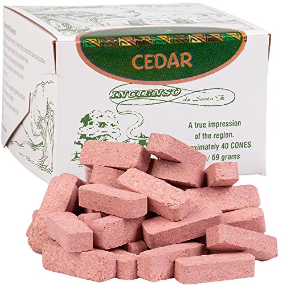 スキー大混乱従者(40 Brick) - Cedar Wood Incense - 80 Bricks (Cones) by Incienso De Santa Fe