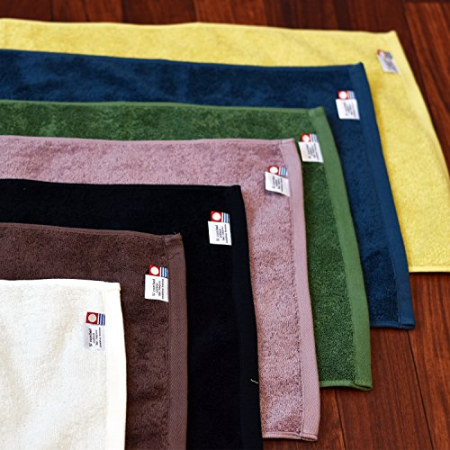 sea blue japan import Bath towel set of 2 cotton Imabari Sanhokin Leon
