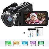 ビデオカメラ ACTITOP ポータブルビデオカメラ 2400万画素 HD1080P 16倍デジタルズーム ビデオカムコーダー 予備バッテリーあり 3インチ液晶ディスプレイ 270度回転スクリーン SDカード(最大32GB)  日本語システム (2400万画素)