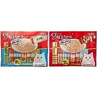 【セット買い】チャオ (CIAO) 猫用おやつ ちゅ~る まぐろ・かつおバラエティ 14g×40本入 & (CIAO…