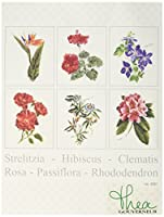 Thea Gouverneur 36 Count Counted Cross Stitch Kit, 6-3/4 by 8-Inch, Floral Studies 1 on Linen, Set of 6 [並行輸入品]