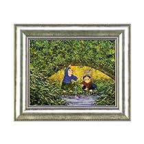 開田風童 「川辺の二人」 ジグレー版画(絵画) <F6> 12-4