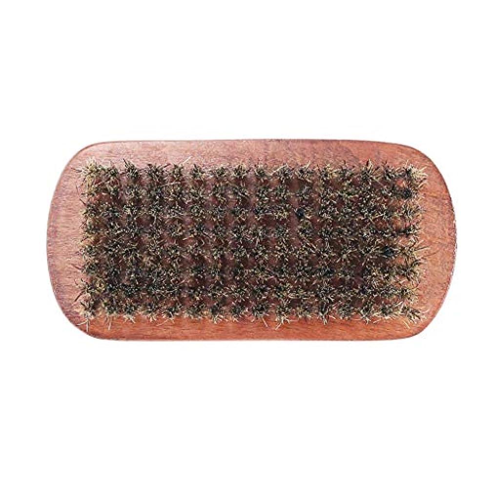 田舎エンドテーブル概してVertily の メイクアップ ショップ 男性 ひげブラシ イノシシの毛 毛のひげ 堅い楕円形 木製 男性 ブラシ 口ひげコンディショニングのスタイリングとメンテナンスのためのフェイシャルヘアコーム 褐