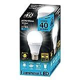 ルミナス LED電球 口金直径26mm 40W相当 昼白色 広配光タイプ 密閉器具対応 CM-A40GN