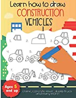 Learn how to draw construction vehicles crane, concrete mixer, dump truck, and many more! Ages 5 and up: Fun for boys and girls, PreK, Kindergarten