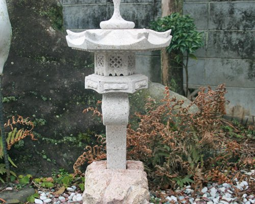蘭渓灯篭(1尺)【錆び石】