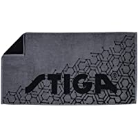 STIGA(スティガ) 卓球 タオル ヘキサゴンタオル グレー/ブラック