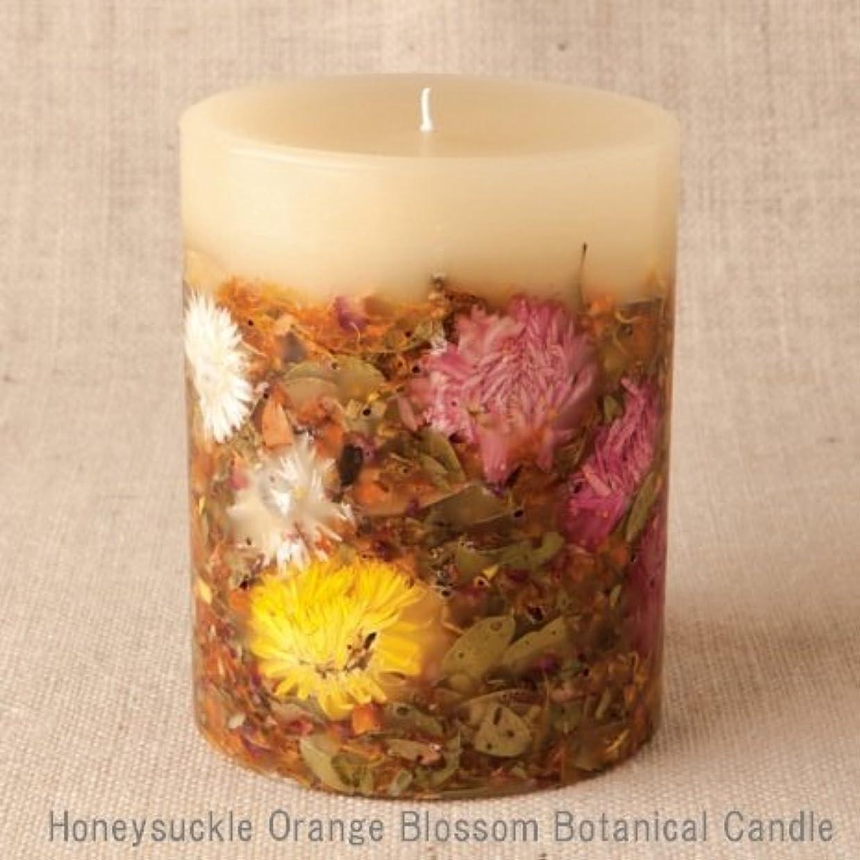 申し立てる穴現像【Rosy Rings ロージーリングス】 Botanical candle キャンドル ハニーサックルオレンジ&ブロッサム