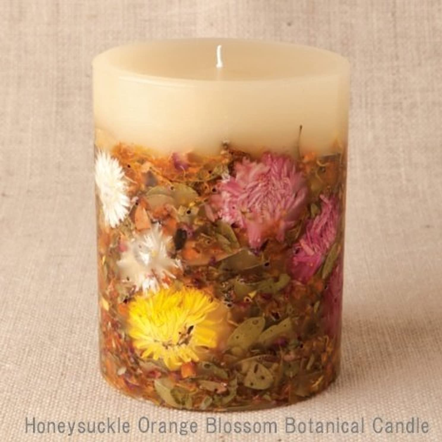 影響力のある平らにする哺乳類【Rosy Rings ロージーリングス】 Botanical candle キャンドル ハニーサックルオレンジ&ブロッサム