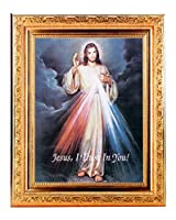 Divine Mercy Fineアートプリントアンティークゴールドリーフフレーム8x 10イタリアリトグラフFine Detailedスクロール。EXCLUSIVEポール・Herbert Copyrighted Blessing含ま。Basilicaシリーズ