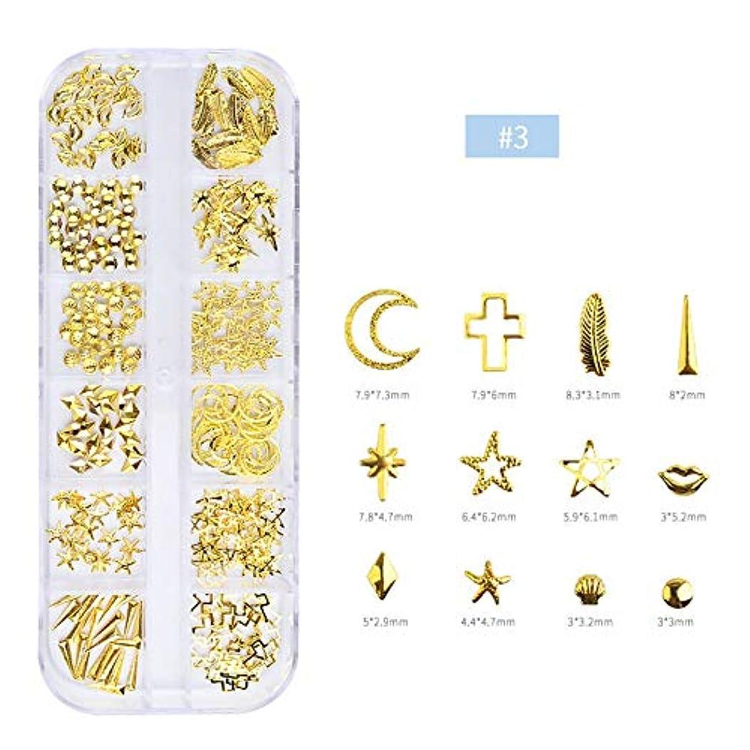 戸惑うコンセンサスしなやかAAcreatspaceネイルドリルメッキリベットメタルオーナメントローズゴールド中空リベット箱入りネイルツールアクセサリー装飾