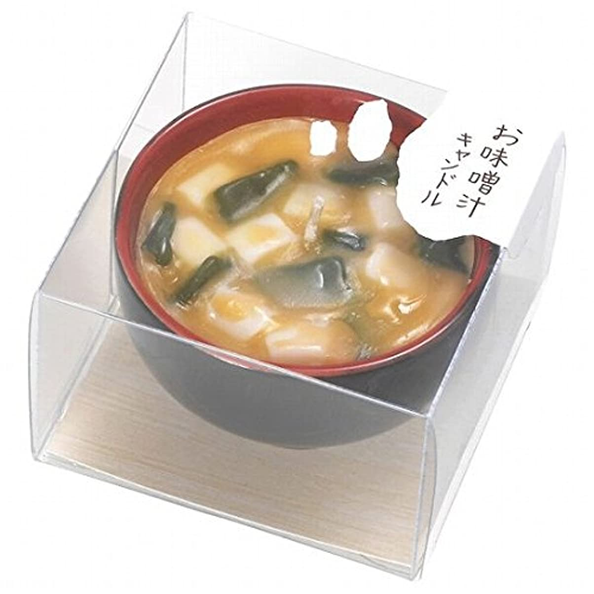 剥離マーカー持っているカメヤマキャンドル(kameyama candle) お味噌汁キャンドル