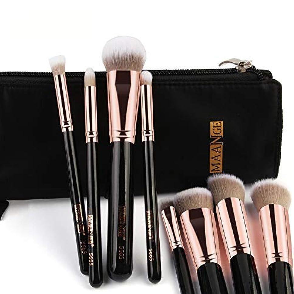 快い分離する推定するジンリガーデン美容ツールポータブル化粧ブラシセット初心者のための化粧筆コンビネーションツール一式ハイエンド化粧ブラシセット+パフ