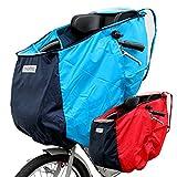 ハガビー(Huggabee) 自転車 チャイルドシート レインカバー フロント用 前用 ブルー