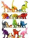 24カラフル恐竜おもちゃ–教育のセット12Large 7 12Mini 1 プラスチックリアルな図 プレイセット–T - Rex Spinosaurus Triceratops More–楽しいゲームKids Boys Girls Age 3 Years Oldギフト