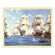 Montague Dawson – トラファルガーの海戦 ファインアート プリント (83.82 x 68.58 cm)