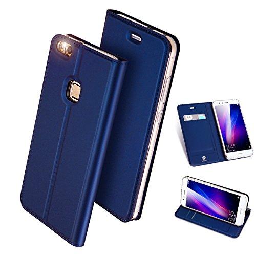 Huawei P10 Lite ケース 手帳型 高級PU レ...