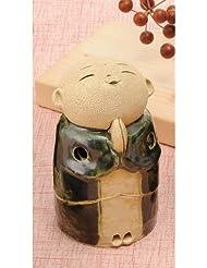 お地蔵様 香炉シリーズ 織部 お地蔵様 香炉 3.5寸(小) [H10cm] HANDMADE プレゼント ギフト 和食器 かわいい インテリア