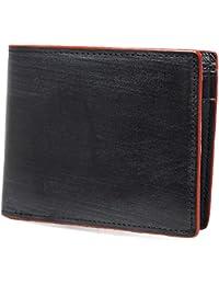 [High-end] 【極上イタリア製ブライドルレザー使用】高級 本革 二つ折り財布 大容量 ME0218_e
