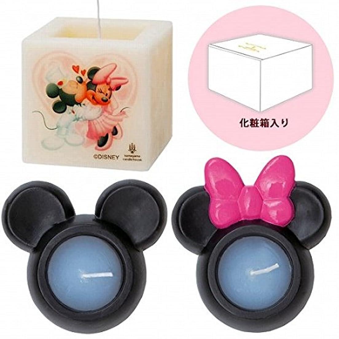 秘密のソフトウェア縞模様のkameyama candle(カメヤマキャンドル) ミッキー&ミニーキャンドルセットM キャンドル 162x162x95mm (A7681002)