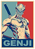 """ポスターOverwatch """" Propaganda """" Genji–a3( 42x 30cm )"""