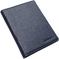 SHANSHUI パスポートケース ホルダー トラベルウォレット スキミング防止 安全な海外旅行用 本革 パスポートカバー 多機能収納ポケット 名刺 クレジットカード 航空券 エアチケット (ダークブルー)