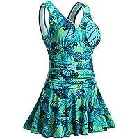 MiYang Women's One Piece Swimsuit Plus-Size Flower Printing Shaping Body Swimwear Bathing Suit