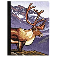 Tree-Free Greetings Caribou Soft Cover 140 Page Recomposition College Ruled Notebook 9.75 x 7.25 (CJ48328) [並行輸入品]