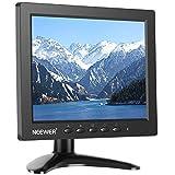 Neewer NW801H 8インチモニター 4:3 TFT-LCD スクリーン 1024x768 解像度 500:1コントラスト HDMI VGA BNC AV 入力オーディオ 内蔵スピーカー DSLR、PC、CCTVカメラ、DVD と車のバックアップカメラに対応