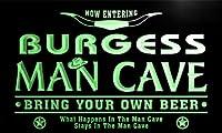 ネオンプレート サイン 電飾 看板 バー pb1346-g BURGESS Man Cave Cowboys Bar Neon Light Sign