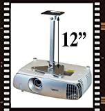 projector-gearプロジェクタ天井マウントfor BenQ mw621st mw705 mw814st mw817st mw820st mw824st with拡張子Lowers 12 ""