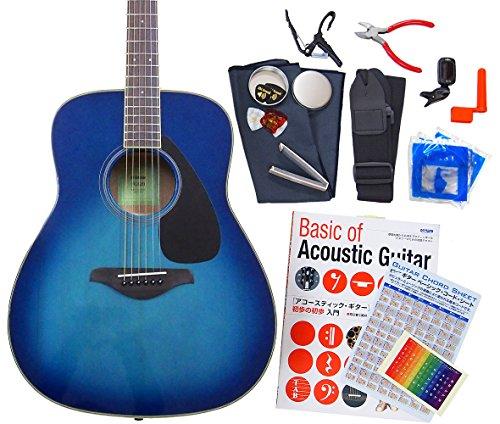 ヤマハ ギター アコースティックギター 初心者 ハイグレード16点セット YAMAHA FG820 SB [98765] 【検品後発送で安心】