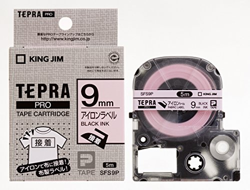 テプラ PROテープ アイロン 9mm ピンクラベル(黒文字) 1個