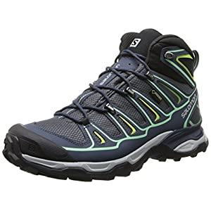 [サロモン] salomon X ULTRA MID 2 GTXR W L37152400 L37152400 (GREY DENIM/Deep Blue/LUCITE GREEN/24.5)