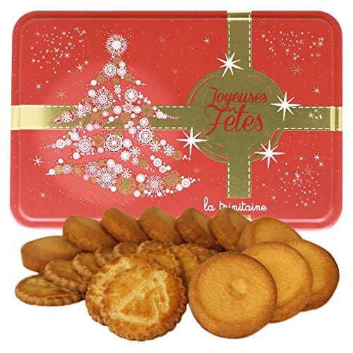 ラ・トリニテーヌ クリスマスツリー レッド缶 ガレット・パレット詰め合わせ