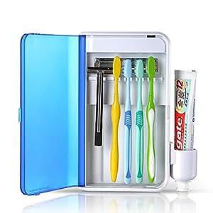 BEMOTION UV歯ブラシ除菌器 家庭用紫外線消毒ケース 歯ブラシ 99.99%除菌&殺菌
