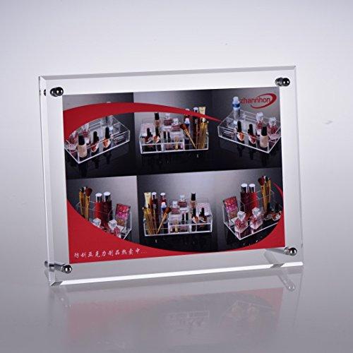 FOLOBE アクリル製 ピクチャーフレーム スタンドタイプ 写真立て 賞状スタンド ポスター展示 額縁 パネル アートフレーム L判/2L判/はがき/A4/6切り