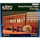 ■【カトー】ラウンドハウスサンタ・フェ スーパーチーフ4両セット C(106-6004)KATO 外国形モデル Nゲージ