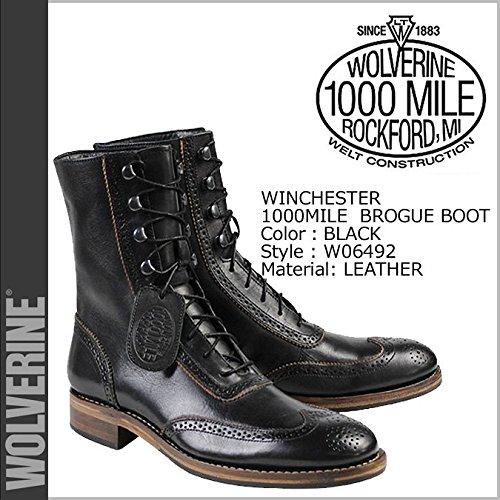 (ウルヴァリン)WOLVERINE ブーツ 1000MILE WINCHESTER BROGUE BOOT Dワイズ 1000マイル ワークブーツ W06492 28.5 BLACK (並行輸入品)