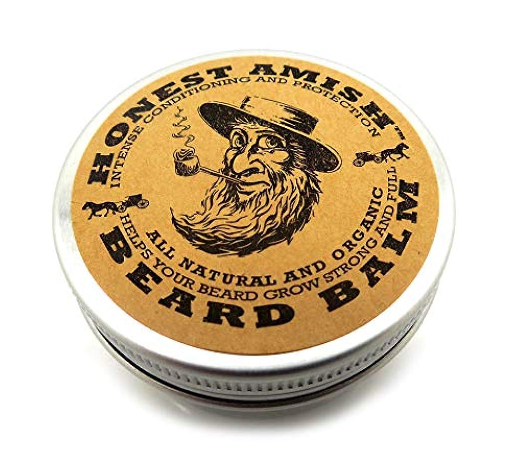 名詞悪夢プロペラHonest Amish あごひげバームリーブインコンディショナーナチュラルオーガニックオイル、バター約 60ml 並行輸入品