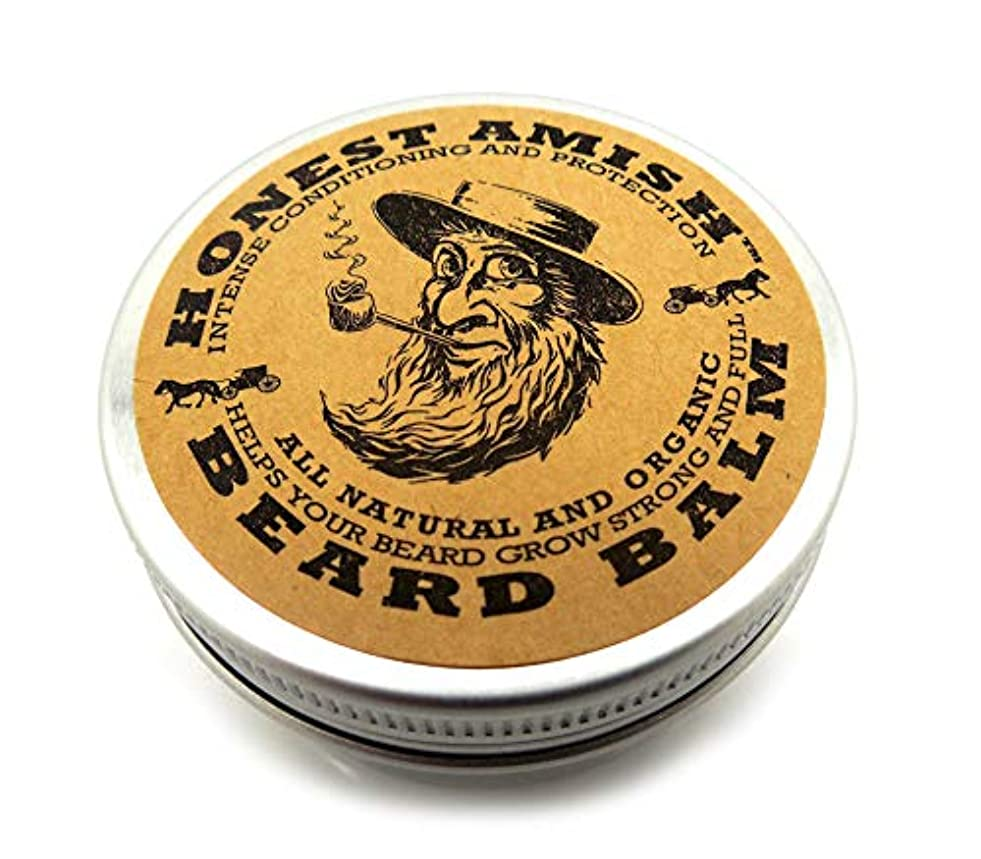 衝動風膨らませるHonest Amish あごひげバームリーブインコンディショナーナチュラルオーガニックオイル、バター約 60ml 並行輸入品