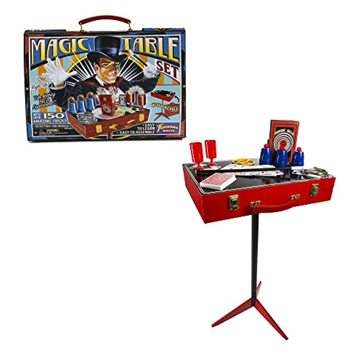 [ファンタスマ]Fantasma Toys Retro Magic Table Set Loaded with Props and Featuring 150 Magic Tricks Includes [並行輸入品]