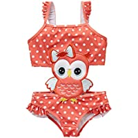 kavkas Baby/Toddler Girl Swimwear One Piece Suits Rash Guard Swimsuits Bathing Suit(12M-8T)