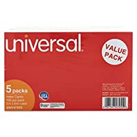 UNV47255 - Value Pack 5 x 8 Ruled Index Cards by Universal????