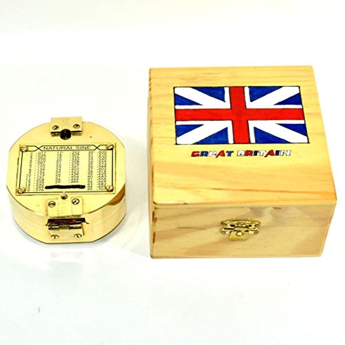 科学的市民心のこもったアンティーク真鍮ヴィンテージNautical Brunton Compassビクトリア朝スタイルコンパスDecor