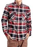 JIGGYS SHOP (ジギーズショップ) コットンチェックシャツ メンズ シャツ メンズ チェックシャツ メンズ L レッド