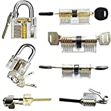 kuject 7 in 1 Practiceロックセット、透明Cutawayロックピッキング練習ツールfor Locksmith