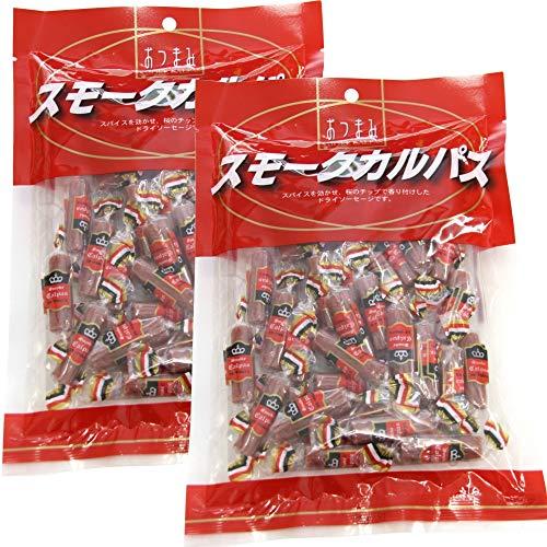 徳用 スモーク カルパス 110g 2袋セット スパイスを効かせた桜のチップで香りを付けた ドライソーセージ ヤガイ